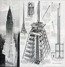 architecture buildings drawings. Modren Buildings Chrysler Building Spire Mechanism Popular Science Monthly August 1930 P  52 To Architecture Buildings Drawings