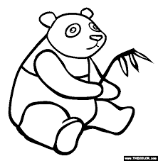 Small Picture Giant Panda Coloring Page Free Giant Panda Online Coloring