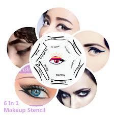 aliexpress 1pack cat eye makeup stencil multifunction eye stencil 6 style template card fish l double wing eyeshadow stencils from reliable cat