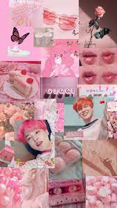 jimin pink collage aesthetic