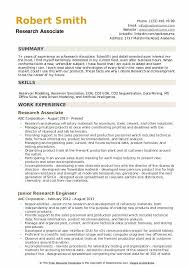 Research Resume Samples Research Associate Resume Samples Qwikresume