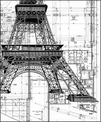 architectural design drawings. From Drawing Board To Completion, Architecture Is An Art Form! Eiffel Tower, Architect Architectural Design Drawings W