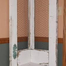door corner shelf this is an old door made into a corner shelf the back