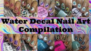 WATER DECAL NAIL ART COMPILATION 2017 - YouTube