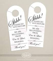wedding door hanger template. Set Of 10 - Classic Swirl Door Hanger For Wedding Hotel Welcome Bag Do Not Disturb Template M