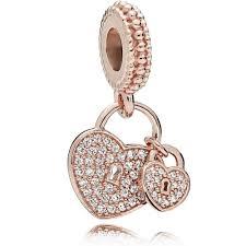 pandora rose love locks charm 781807cz