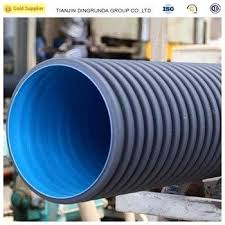 plastic drain pipe double wall black corrugated drainage fittings pvc cleaning