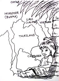 Thai Girl Coloring Page Colouring Page