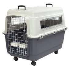 Designer Crates And Cages Sportpet Designs Plastic Dog Kennel And Travel Crate Xl