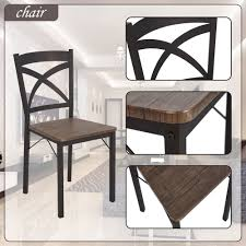 Dporticus 5 Piece Kitchen Dining Room Sets Rustic Industrial Style