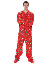 Holly Jolly Christmas - Adult Footed Pajamas | Adult Pajamas | One ...