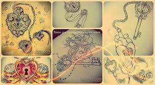 эскизы для татуировки ключ и замок рисунки фото значение смысл