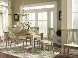 Rustic Dining Room With French Country Style Dining Sets And Wooden