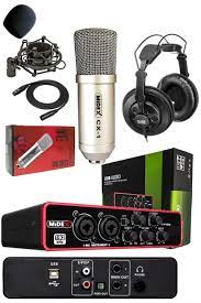 Stüdyo Ekipmanları Ses Kartı Mikrofon Kulaklık Special Paket-1