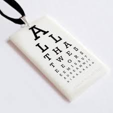Allen Eye Chart Edgar Allan Poe Eye Chart Pendant All That We See Or