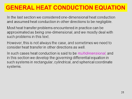 26 general heat conduction equation