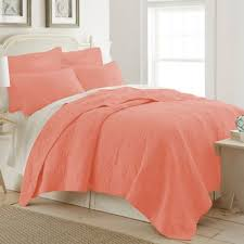 Buy Coral King Quilt from Bed Bath & Beyond & Ocean View King Quilt in Coral Adamdwight.com