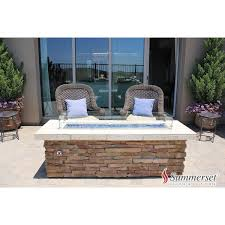 Stacked Stone Fire Pit stacked stone rectangle fire pit w wind guard outdoor furniture 2456 by guidejewelry.us