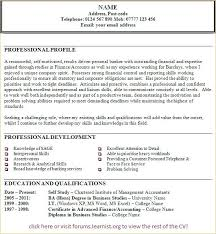 Cvs Examples For Personal Profile Free Catering Template Samples