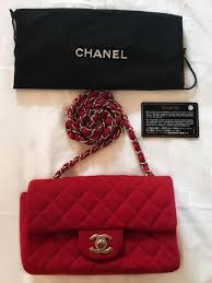 chanel jersey. chanel - jersey classic mini flap bag