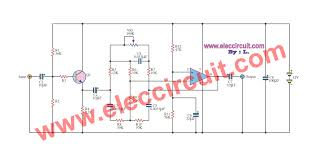 active bass boost circuit using ic 741 eleccircuit com super boost bass by ua741 figure 1 the schematic