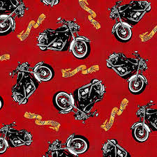 Biker For Life Fabric By The Yard / Motorcycle Toss / & Like this item? Adamdwight.com