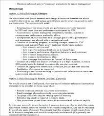 Template Work Methodology Template Business Sale Proposal Sample