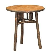 amish 22 round rustic end table for accent plans 7