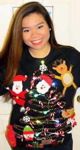 this idea for a ugly sweater incorporates everything holiday icon at once