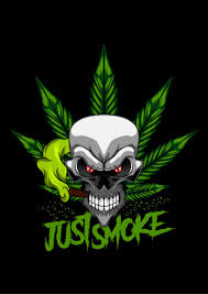 Weed Designs Cannabis Skull Marijuana T Shirt Design Template