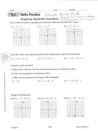 form templates graphing quadratics in standard worksheet solving quadratic functions