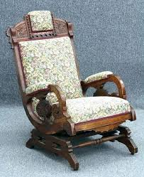 antique wicker rocking chair identification platform wood