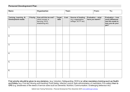 personal development plans sample download self development plan template 4 template