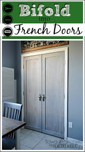 bifold door makeover into french doors