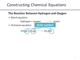 constructing chemical equations