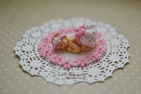Amazoncom Fondant Baby Girl Cake Topper Handmade