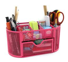 cool handy office supplies. Amazon.com : Mesh Desk Organizer Office Supply Caddy Drawer With Pen Holder Collection Pink Products Cool Handy Supplies P