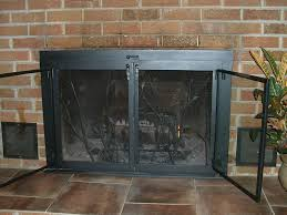 fireplace screen and glass doors extraordinary door screens steps to install for home ideas 0