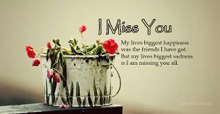i miss you messages for friends