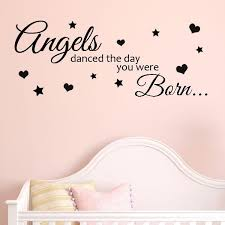 angels d the day you were born baby nursery wall art wall sticker decals
