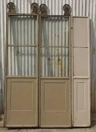 freight elevator doors. three door sets of vintage commercial metal freight elevator doors - 243825 h
