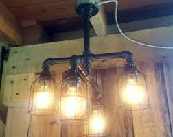rustic industrial lighting. industrial lighting rustic chandelier iron pipe ceiling light edison bulb i