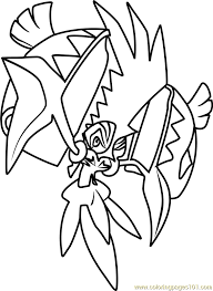 Small Picture Tapu Koko Pokemon Sun and Moon Coloring Page Free Pokmon Sun
