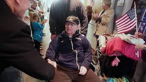 WWII vet couldn't make Honor Flight, so family brought Honor Flight to him