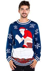Mens Santa Log On Fire Ugly Christmas Sweater on the Men\u0027s | Tipsy Elves