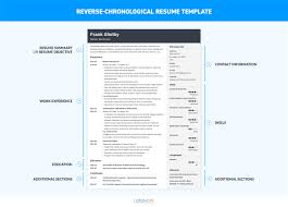 Chronological Resume Template 20 Examples Complete Guide And Reverse