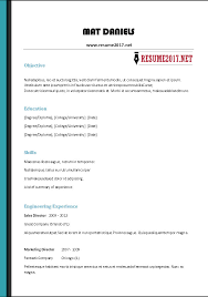 Free Resume Best FREE RESUME TEMPLATES 60