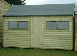 10 14x8 barrel board cottage style shed