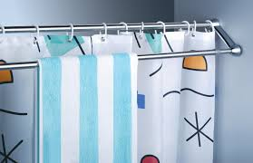 double bar rod for a shower curtain