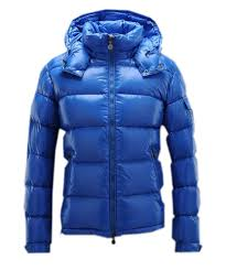 Moncler Maya Winter Mens Down Jacket Fabric Smooth Blue  d651